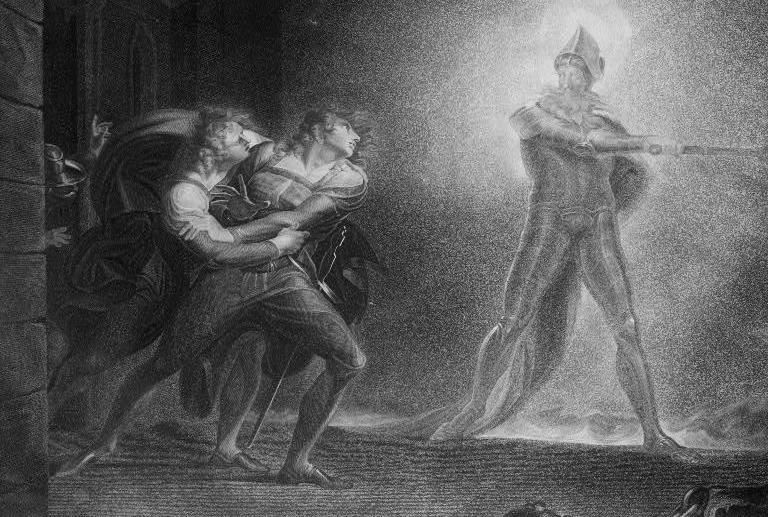 illustration of a scene from Hamlet