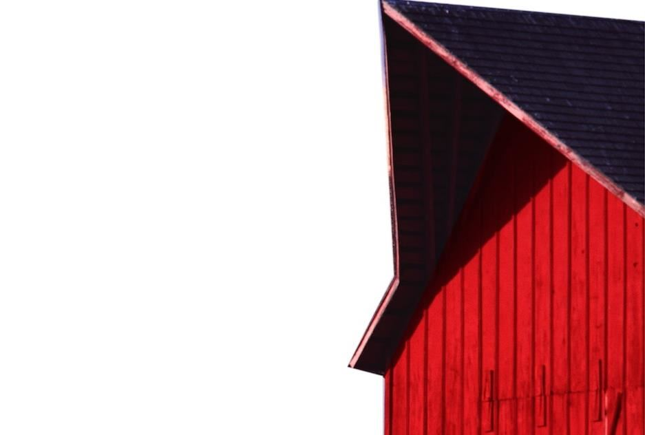 roof of red barn