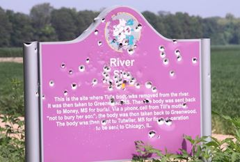Emmett Till Memorial Sign