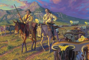 painting of santa fe trail traders
