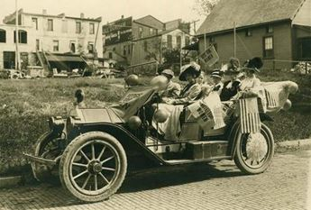Suffragettes in Lawrence, c. 1910. Photo courtesy of KansasMemory.org