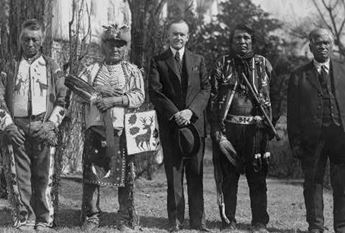 Native American leaders and Calvin Coolidge