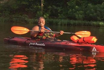 Annette Billings kayaking